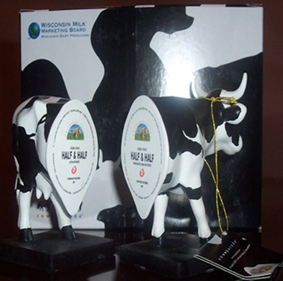 Cow Parade Half & Half Hand-Painted Resin Two-Piece Cow Figurine