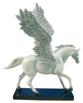 Painted Ponies First Edition Silver Lining 1E White Pegasus Horse Figurine