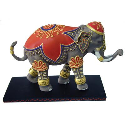 Tusk Elephants by Westland Giftrware Retired Ceremonial Hand-Painted 6