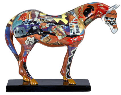 Trail of Painted Ponies 2004 Retired Route 66 Ceramic 6