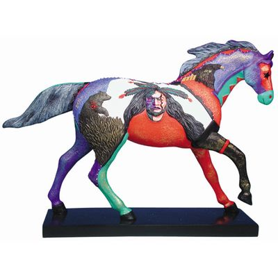 Painted Ponies First Edition Earth, Wind, & Fire Native American Horse Art Figurine