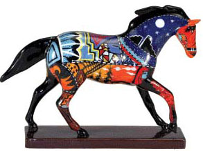 Trail of Painted Ponies Retired Grandfather's Journey Ceramic 6