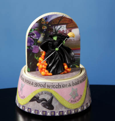 Wizard of Oz Good Witch or Bad Witch Animated Rotating Musical Figurine