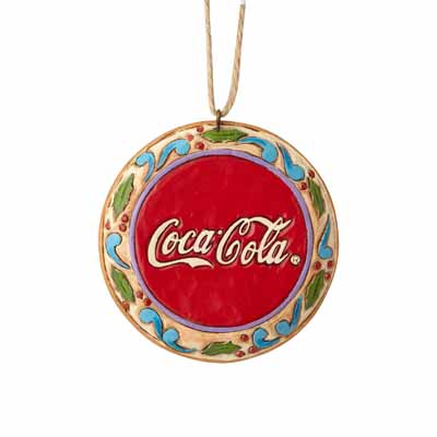 Jim Shore Heartwood Creek Coca-Cola Santa Disk 3