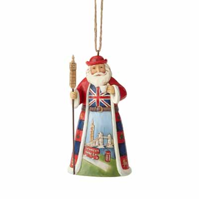 Jim Shore Heartwood Creek Holiday British Santa  4.5