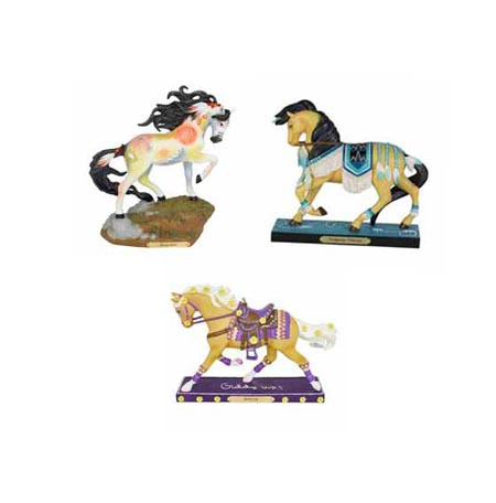 Trail of Painted Ponies Winter 2019 Set of 3 Collectible Pony Figurines