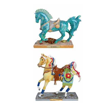 Trail of Painted Ponies Spring 2020 Set of 2 Horse Figurines