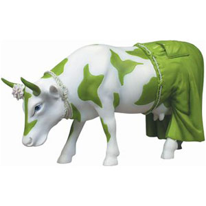 CowParade Retired Clean Jean the Green Holstein Collectible Resin Cow Figurine