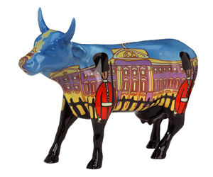 CowParade Retired Bovingham Palace Buckingham Palace Ceramic Cow Figurine