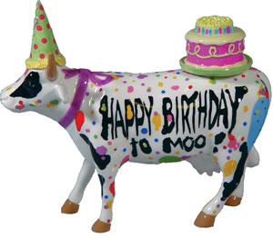 Cow Parade Happy Birthday to Moo Medium 4