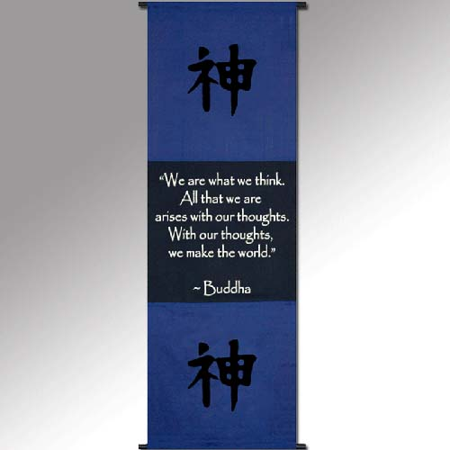 Spiritual Wall Scroll Thoughts ~Buddha