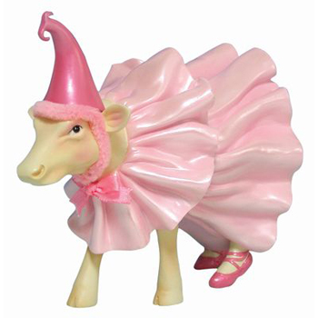 CowParade Wizard of Oz Retired Ballerina Munchkin Cow Hand-Painted Collectible Resin Figurine