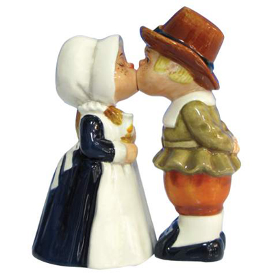 Mwah! Pilgrims Magnetic Salt and Pepper Shakers