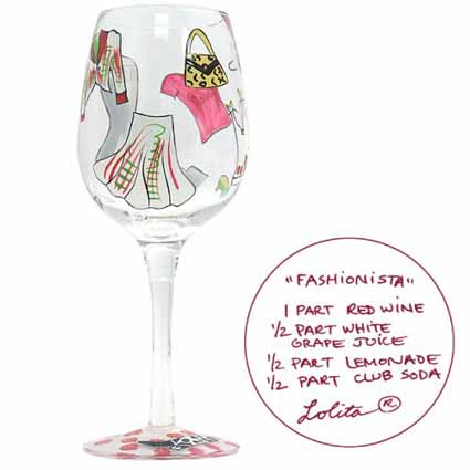 Lolita Love My Wine Retired Hand-Painted Fashionista 9