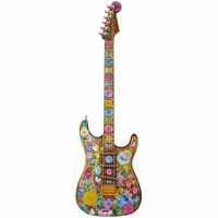 GuitarMania Flower Power Mini Fender 10