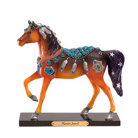 Painted Ponies Retired Native Jewel Turquoise Adornment Native American Horse Art Collectible Figuri