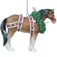 Painted Ponies Holiday Retired 2004 Christmas Clydesdale 2.5