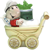 Popeye Collection Sweet Pea And Stroller Shakers
