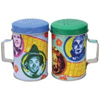 Wizard of Oz Four Friends Tin Salt and Pepper Shakers