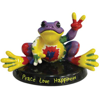 Peace Frogs Peace Love Happiness Figurine