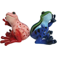 Peace Frogs Sitting Frogs S&P Shakers