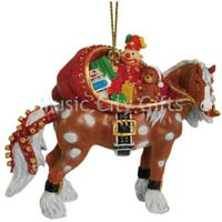 Horse of a Different Color Santa Horse Clydesdale Ornament with Tin