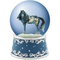 Horse of a Different Color Woodland Santa Musical Water Globe