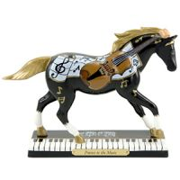 Painted Ponies First Edition 1E Prance to the Music Collectible Ceramic Piano Keys Horse Figurine