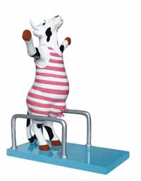 CowParade High Dive Medium Hand-Painted Resin Cow Figurine