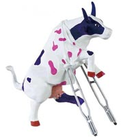 CowParade Retired Owie Cowie Collectible Resin Cow Figurine