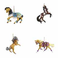 Trail of Painted Ponies Winter 2020 Collector's Choice Ornaments Set of 4