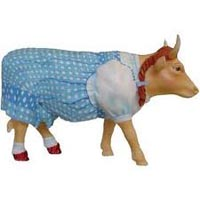 Cow Parade Wizard of Oz Retired Dorothy Hand-Painted Collectible Resin Figurine