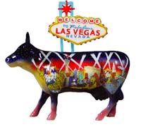 CowParade Retired Welcome To Fabulous Las Vegas 5