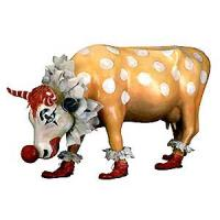 Cow Prade Retired Stamford 2000 You Can't Have a Parade Without a Clown Hand-Painted Resin Cow Figur