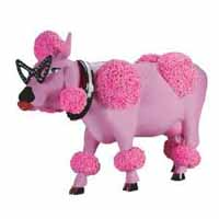 CowParade French Moodle Pink Poodle Figurine