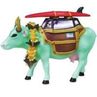 CowParade Retired Cow-a-Bunga! Resin Surfing Cow Figurine