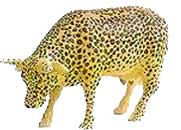 Cow Parade Leopard Cow Figurine
