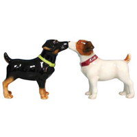 Mwah! Jack Russells Magnetic Salt and Pepper Shakers