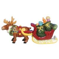 Mwah! Salt and Pepper Shakers Reindeer & Santa's Sleigh