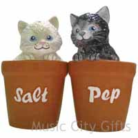 Mwah! Salt & Pepper Shakers Kittens In Pots