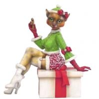 Alley Cats by Margaret Le Van Christmas Naughty Nat the Elf 5.5