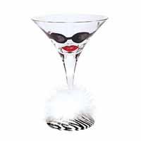 Lolita Love My Martini Retired Hand-Painted Almost Famous Cocktail Glass in Gift Box
