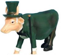 CowParade Retired Wizard of Oz The Wizard Cow Collectible Resin Figurine