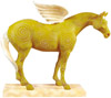 Trail of Painted Ponies Retired Holiday Golden Girl Pegasus 6