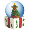 Aye Chihuahua Christmas Tree Waterglobe