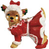Aye Chihuahua Mrs. Clause Ornament