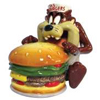 Looney Tunes Taz Eating Burger S&P Shakers