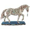 Horse of a Different Color Jeweled Butterflies Quarter Horse Figurine