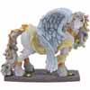Horse of a Different Color Guardian Angel Clydesdale Horse Figurine