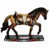 Horse of a Different Color Longhorn Quarter Horse Figurine